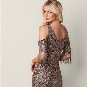 Venus Fringe Detail Lace Dress